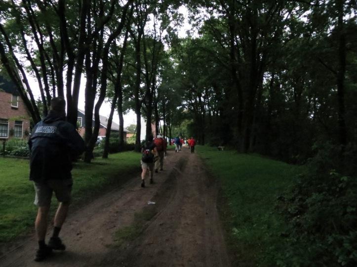Henk-Jan van der Klis op weg naar de rust bij Molen Saasveld (11 km)